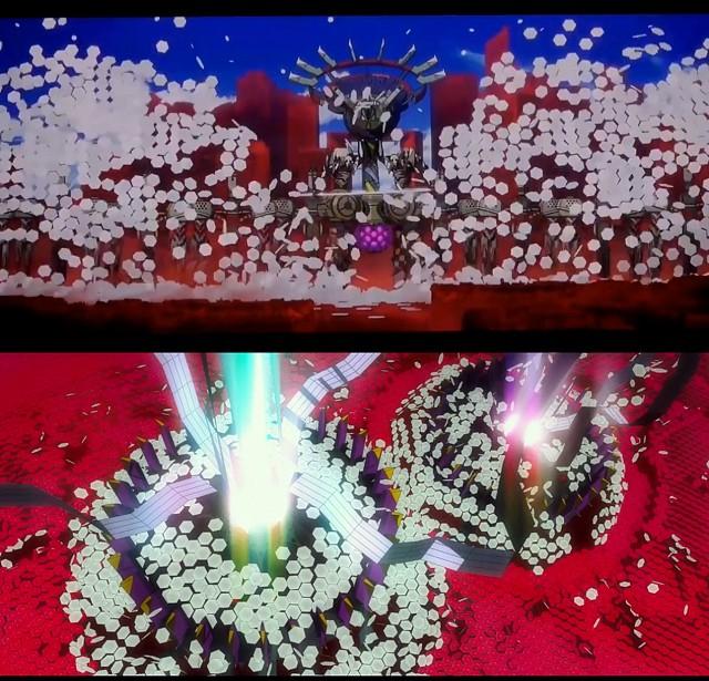 Camuffamento del boss in AVANT 1 e della Serie Nemesis in Evangelion: 3.0