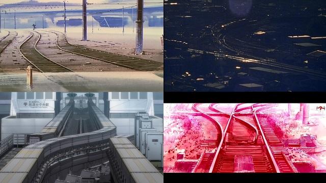 Binari ferroviari in Evangelion